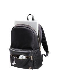Czarny plecak na laptopa hama elegancki, w kolorowe wzory