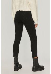 Czarne jeansy Answear Lab gładkie, wakacyjne