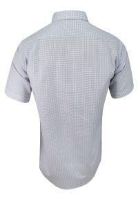 Elegancka koszula Jurel w kratkę, krótka, na spotkanie biznesowe, z krótkim rękawem