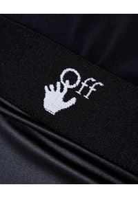 OFF-WHITE - Ołówkowa spódnica z marszczeniem. Okazja: na imprezę. Kolor: czarny. Wzór: aplikacja. Sezon: jesień. Styl: klasyczny