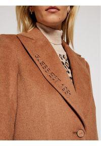 Brązowy płaszcz przejściowy Guess