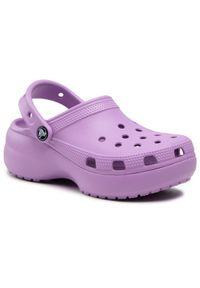 Crocs Klapki Classic Platform Clog W 206750 Fioletowy. Kolor: fioletowy. Obcas: na platformie