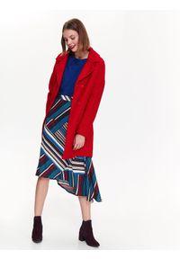 TOP SECRET - Spódnica w pasy w modnym fasonie, asymetryczna. Okazja: na co dzień. Materiał: tkanina. Wzór: paski, kolorowy. Sezon: jesień, zima. Styl: casual