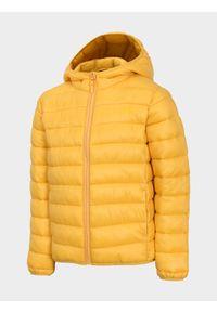 Żółta kurtka zimowa 4f