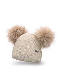 Beżowa czapka zimowa PaMaMi