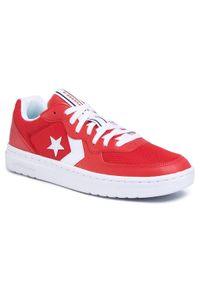 Czerwone buty sportowe Converse z cholewką, na co dzień