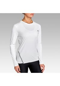 Biała koszulka do biegania KALENJI długa, z długim rękawem