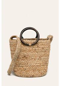 Beżowa torba plażowa Pieces mała, na ramię
