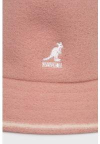 Kangol - Kapelusz wełniany. Kolor: różowy. Materiał: wełna