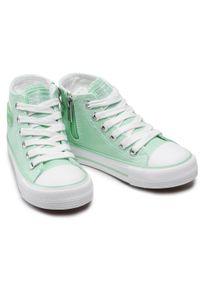 Big-Star - Trampki BIG STAR - HH374141 Mint. Okazja: na co dzień. Kolor: zielony. Materiał: materiał. Styl: casual