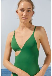 Women Secret - Strój kąpielowy. Kolor: zielony. Materiał: dzianina