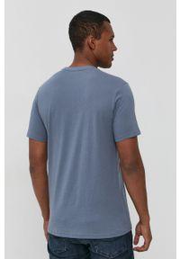 !SOLID - Solid - T-shirt bawełniany. Okazja: na co dzień. Kolor: fioletowy. Materiał: bawełna. Wzór: aplikacja. Styl: casual