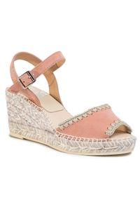 Różowe sandały Kanna casualowe, na co dzień