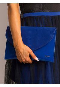 Niebieska kopertówka ROVICKY wizytowa, lakierowana
