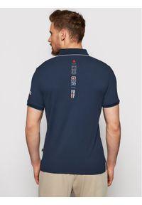 Musto Polo Sardinia 82015 Granatowy Regular Fit. Typ kołnierza: polo. Kolor: niebieski #5