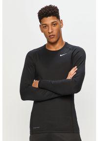 Czarna koszulka z długim rękawem Nike casualowa, na co dzień