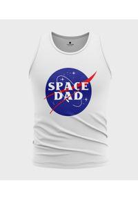 MegaKoszulki - Koszulka męska bez rękawów Space dad. Materiał: bawełna. Długość rękawa: bez rękawów