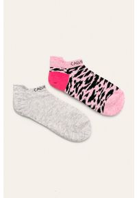 Różowe skarpetki Calvin Klein