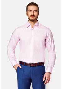 Lancerto - Koszula Różowa Raben. Kolor: różowy. Materiał: bawełna, tkanina, wełna. Styl: elegancki