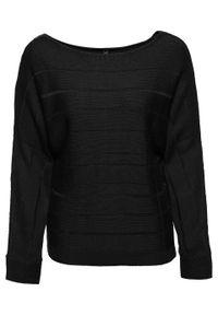 Czarny sweter bonprix raglanowy rękaw