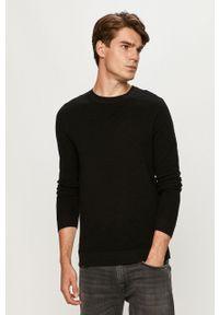 Jack & Jones - Sweter. Okazja: na co dzień. Kolor: czarny. Materiał: materiał. Wzór: ze splotem. Styl: casual