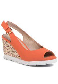 Pomarańczowe sandały Clara Barson casualowe, na co dzień