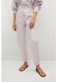 Fioletowe jeansy loose fit mango gładkie