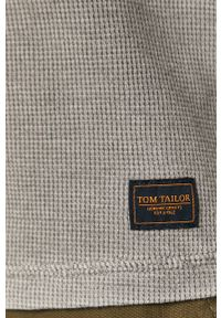 Szara koszulka z długim rękawem Tom Tailor Denim na co dzień, casualowa