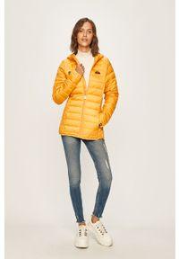 Żółta kurtka Ellesse casualowa, z kapturem, na co dzień