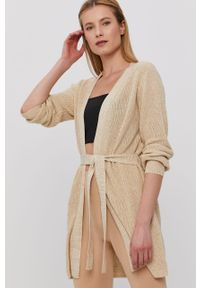 Sweter rozpinany Jacqueline de Yong gładki, casualowy