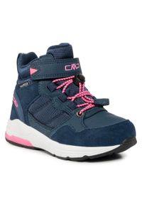 Trzewiki CMP - Hadil Lifestyle Shoes Wp 30Q4524 Black Blue N950. Okazja: na spacer. Kolor: niebieski. Materiał: skóra, skóra ekologiczna, zamsz, materiał. Szerokość cholewki: normalna. Sezon: zima
