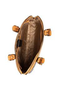 Brązowa torebka klasyczna Puccini zdobiona, z aplikacjami