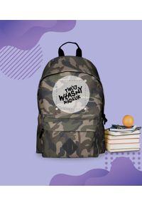 MegaKoszulki - Plecak moro z własnym nadrukiem. Materiał: materiał. Wzór: moro, nadruk. Styl: sportowy, wakacyjny, casual, młodzieżowy, klasyczny