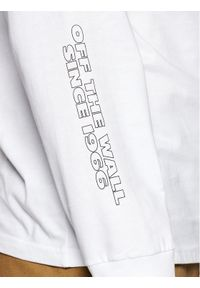 Vans Longsleeve Blooming VN0A54DA Biały Classic Fit. Kolor: biały. Długość rękawa: długi rękaw