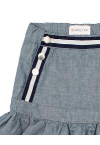 MONCLER KIDS - Spódnica mini 4 - 14 lat. Kolor: niebieski. Materiał: materiał. Sezon: lato. Styl: elegancki