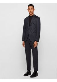 BOSS - Boss Spodnie materiałowe Banks4-J 50444083 Granatowy Slim Fit. Kolor: niebieski. Materiał: materiał