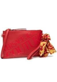Versace Jeans Couture - Torebka VERSACE JEANS COUTURE - E1VWABAX 500. Kolor: czerwony. Materiał: skórzane