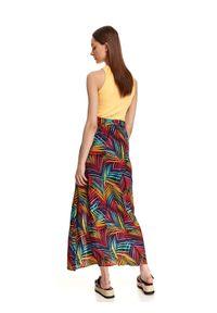 DRYWASH - Spódnica maxi w kolorowe wzory. Okazja: na co dzień. Materiał: materiał. Długość: długie. Wzór: kolorowy. Sezon: lato. Styl: wakacyjny, casual #6