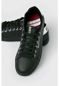 Czarne buty sportowe Big-Star z cholewką, na średnim obcasie, na sznurówki