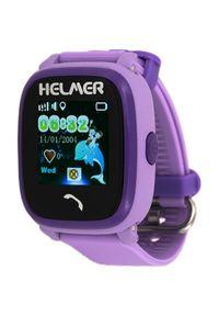 Fioletowy zegarek Helmer cyfrowy