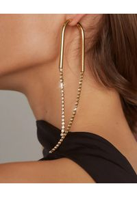 CULT GAIA - Kolczyki z kryształkami Meta. Materiał: srebrne, z mosiądzu, złote. Kolor: srebrny