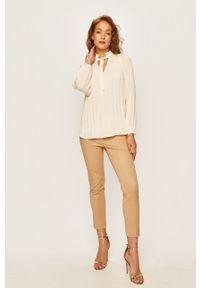 Kremowa bluzka Lauren Ralph Lauren na co dzień, długa