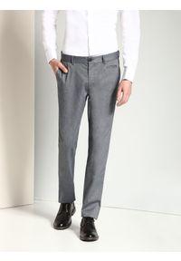 Szare spodnie TOP SECRET na zimę, długie, casualowe, na co dzień
