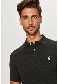 Czarna koszulka polo Polo Ralph Lauren polo, krótka