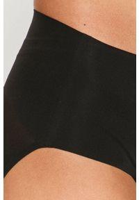 Spanx - Figi modelujące. Kolor: czarny. Materiał: tkanina, materiał. Wzór: gładki