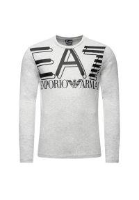 Szara koszulka z długim rękawem EA7 Emporio Armani