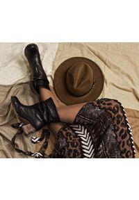 Czarne botki Zapato bez zapięcia, z cholewką za kolano, z cholewką