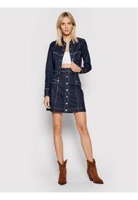 Guess Kurtka jeansowa W1YN33 D3OW9 Granatowy Regular Fit. Kolor: niebieski. Materiał: jeans