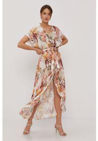 Wielokolorowa sukienka Rip Curl z krótkim rękawem, na co dzień, w kwiaty