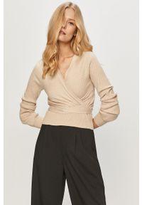 Haily's - Sweter. Okazja: na co dzień. Kolor: beżowy. Długość rękawa: długi rękaw. Długość: długie. Styl: casual